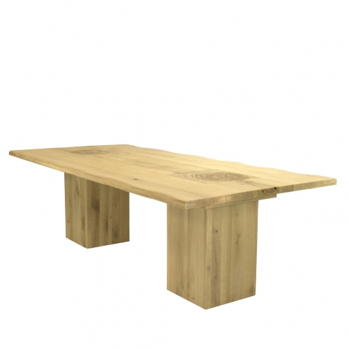 Cees&Co -  Table Solid Treetrunk OAK Wood
