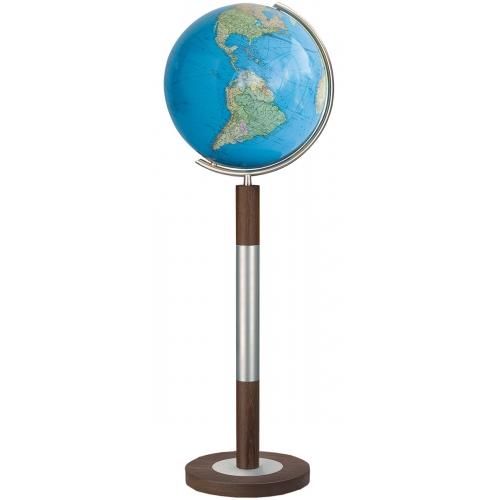 Columbus - Globus Duo Standglobus Ø 40 cm, OID kompatibel Edelstahl-Holz