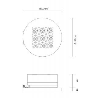Aufbaugehäuse 48mm inkl. Konverter
