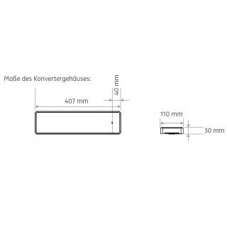Aufbaugehäuse 30mm inkl. Konverter, einfach schaltbar (ohne Dimmer)