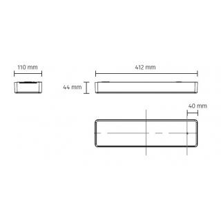 Aufbaugehäuse 30mm inkl. Konverter, dimmbar (inkl. Dimmer
