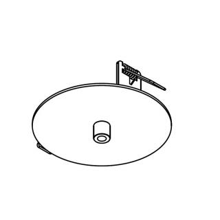 Abdeckplatte weiß Ø110mm
