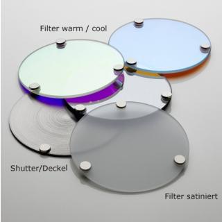 3x Filter satiniert (diffuses Licht)