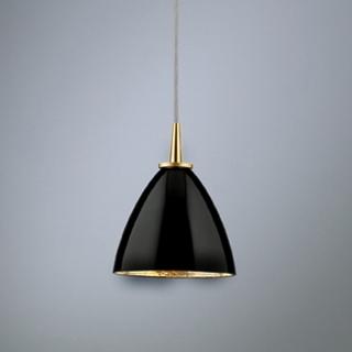 Glas schwarz, Schirmaufhängung gold, Blattgold innen