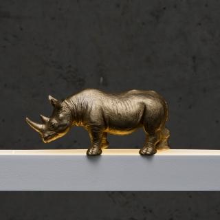 Nashorn in gold