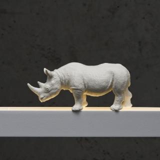 Nashorn in weiß