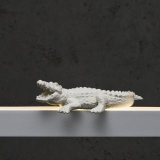 Krokodil in weiß